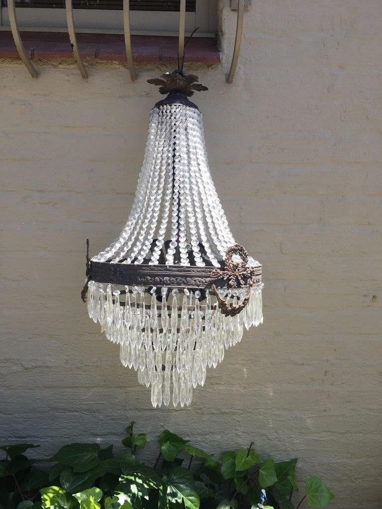 Empire Style Crystal and Gilt Chandeliers