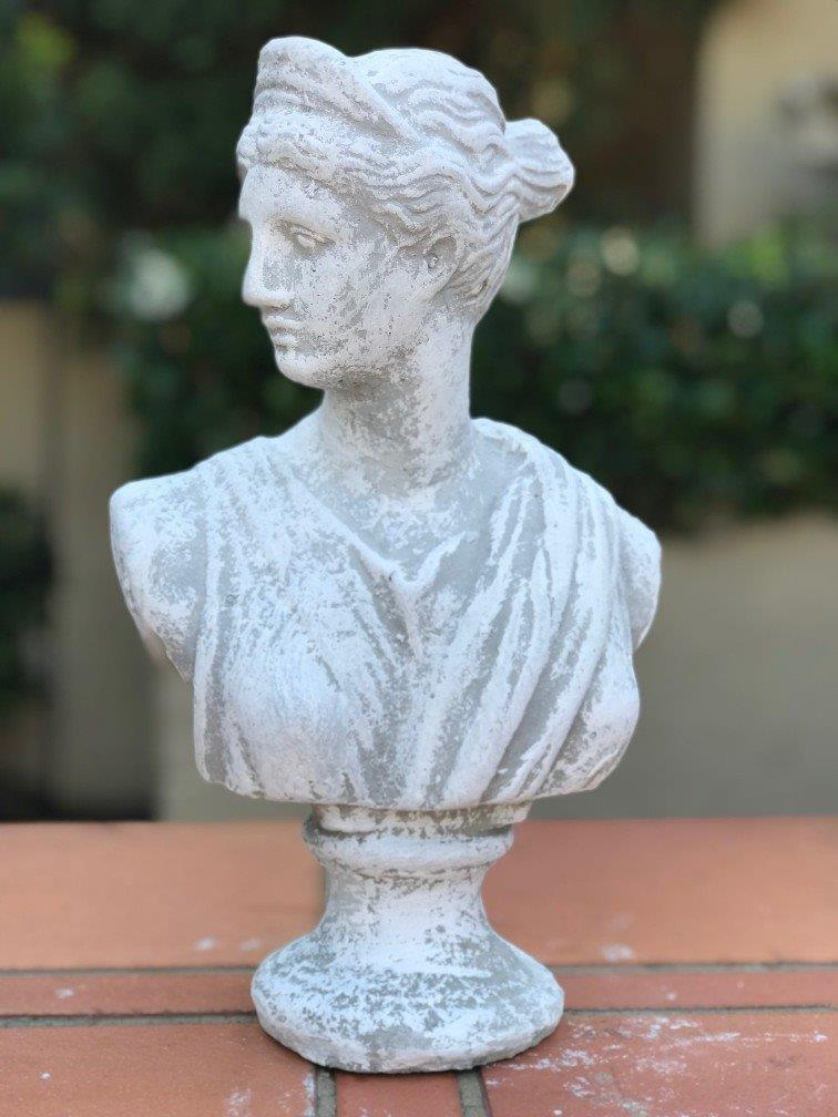 Small Concrete Female Bust