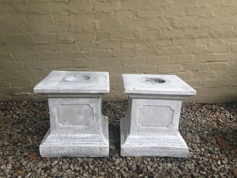 Pair of Concrete Plinths