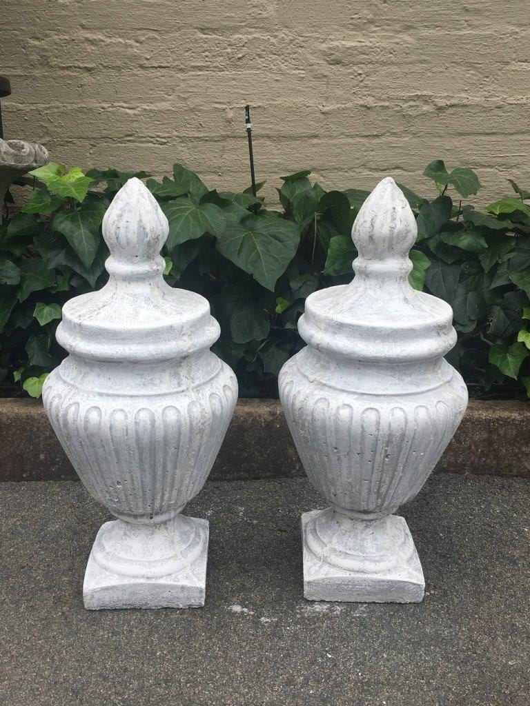 Pair of  Concrete Urns