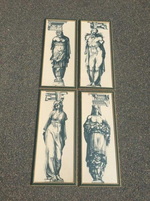 Set of 4 Ancient Roman Prints - ND