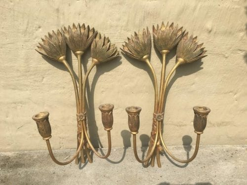 Pair Candle Wall Sconces - ND