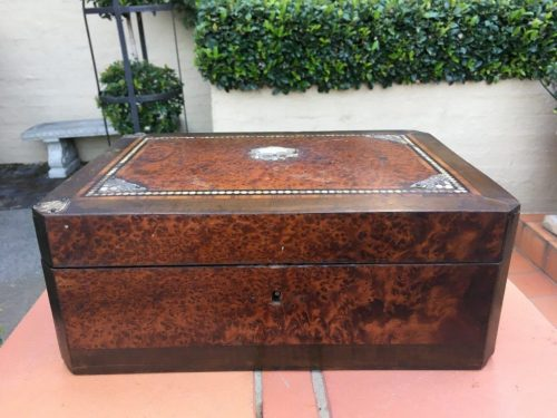 Mother of Pearl Burr Walnut Box