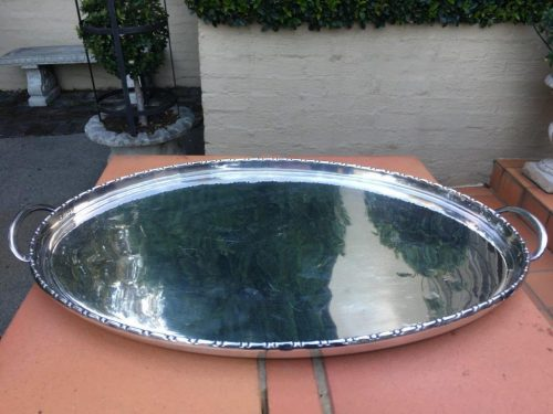 Silver Plated Oval Tray - ND