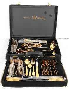 Large SBS Solingen Gold-Plated Cutlery Set