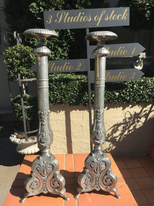 Pair Imported Alter Candle stands