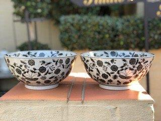 Pair of Vintage Bowls with Flower Design