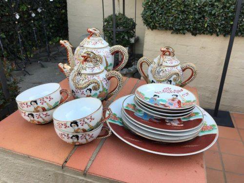 Vintage Japan Dragonware China tea set