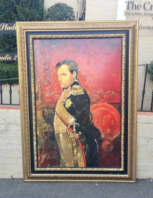Large gilt framed large portrait of a gentleman