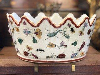 Chinese Planter with Crackle Glaze