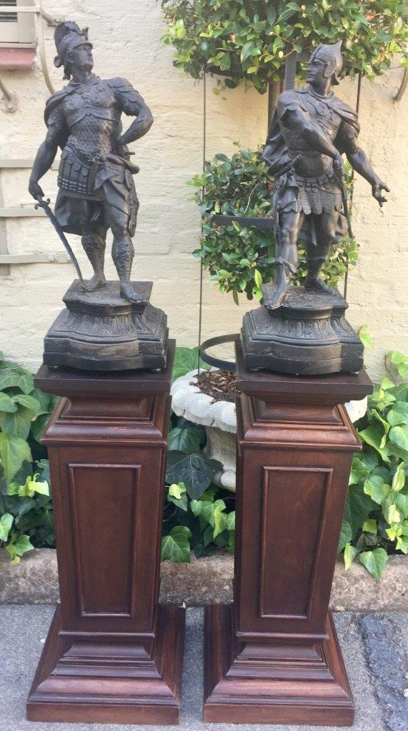 "Pair of spelter ""Cavalier"" Figures"