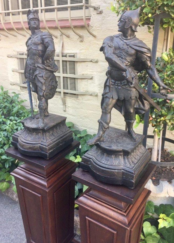 both in full battle dress 65cm on a pair of Gueridons