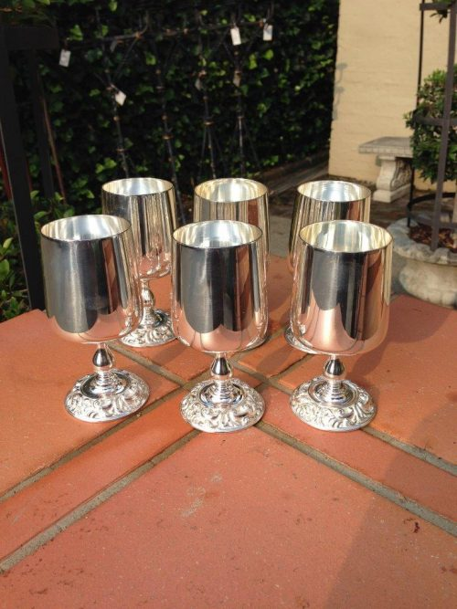 7824 Set of 6 Silver Plated Goblets