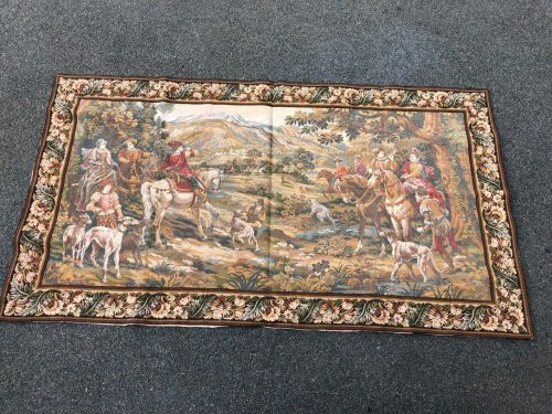 Antique Aubusson French Woven Tapestry 19th century