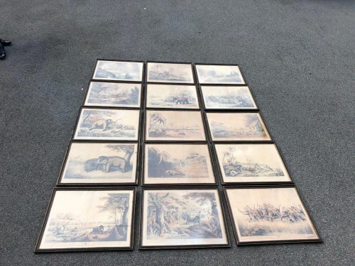 Set of 15 Engravings from Oriental Field Sports by Samuel Howitt and Captain Thomas Williamson