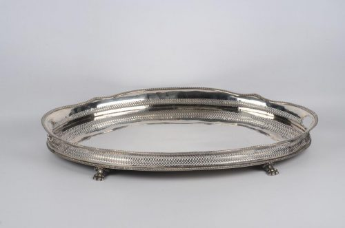 Edwardian Silver Plated Gallery Tray