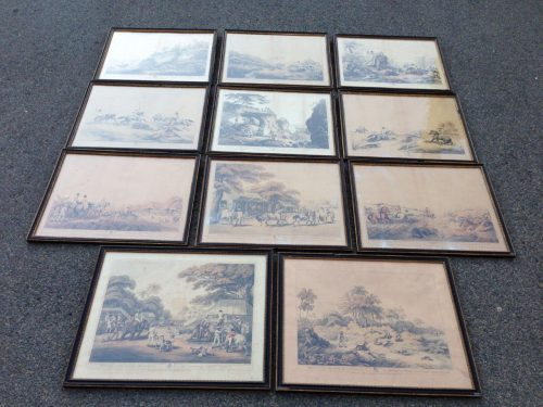 Set Of 11 Samuel Howitt And Captain Thomas Williamson Hand Coloured Etchings