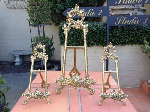 Set of 3 Cast Brass Easels