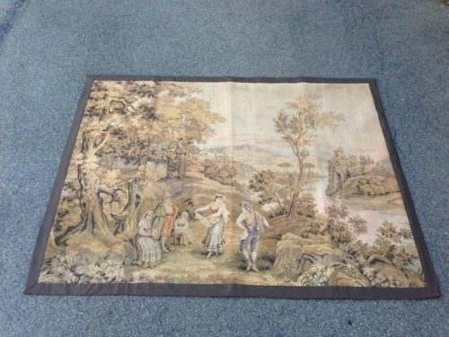 19th Century French Tapestry Depicting Pastoral Scene
