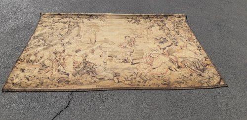 Vintage Flemish tapestry Circa 1920 entitled Aventures de Telemaque d'apre Rubens