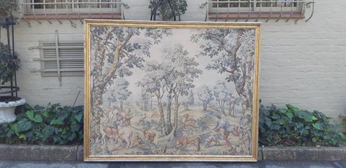 Framed French 'Aubusson' style tapestry
