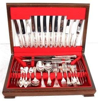 George Butler & Co EPNS King's Pattern 6 Place Cutlery Set In Canteen (6 Place - 75 pieces)