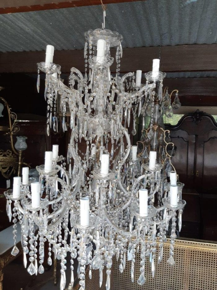 With Over 2500 Hanging Crystals Chandelier. Circa 20th Century. Germany