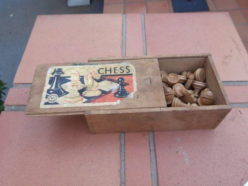 Vintage K&C Wooden Chess Set Made In France