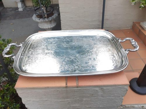 Rare Vintage Of Large Proportion Gorham Tray (The Gorham Manufacturing Company Is One Of The Largest American Manufacturers Of Sterling And Silverplate.)