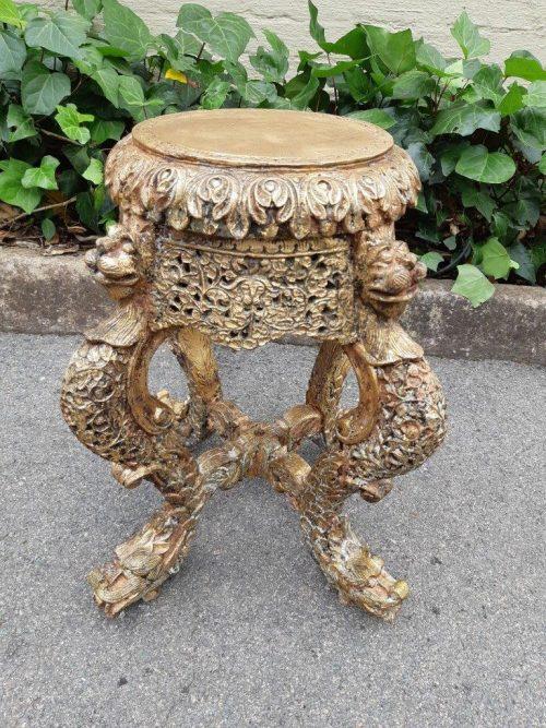 Burmese Ornately Carved Jardinière