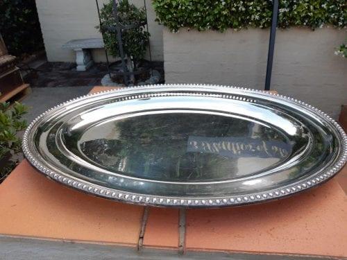 Large Epns Oval Platter