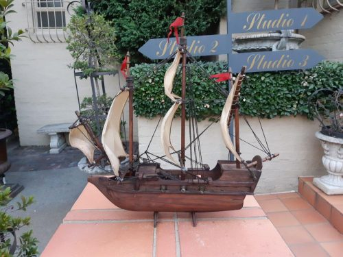 A Hand Crafted Wooden Model Sailing Ship- Nd