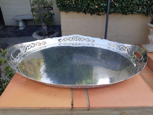 A Silverplate Gallery Tray