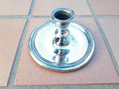 Old Sheffield Plate Candle Holder