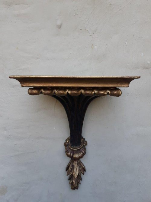 A Wooden Carved and Gilded Wall Sconce