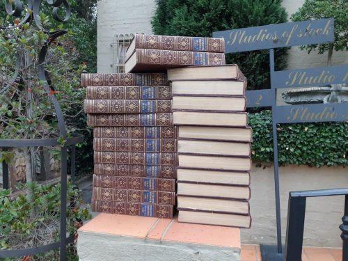 A Set Of Twenty-Four Leather Bound And Gilt Edge Encyclopaedias