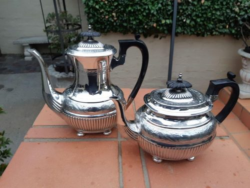 An Early 20th Century Silverplated Coffee Pot And Teapot