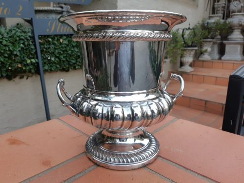 Large Silver Plate Champagne/Wine Bucket