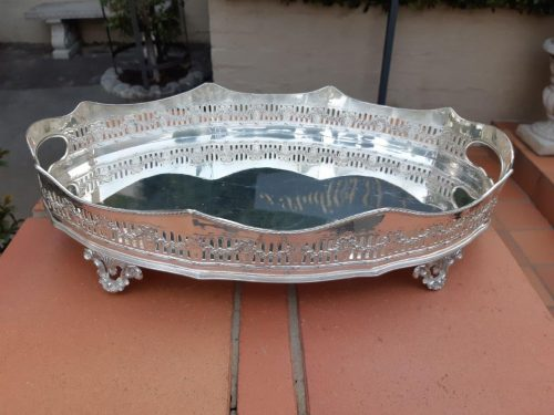 Edwardian Silver Plate Gallery Tray - ND