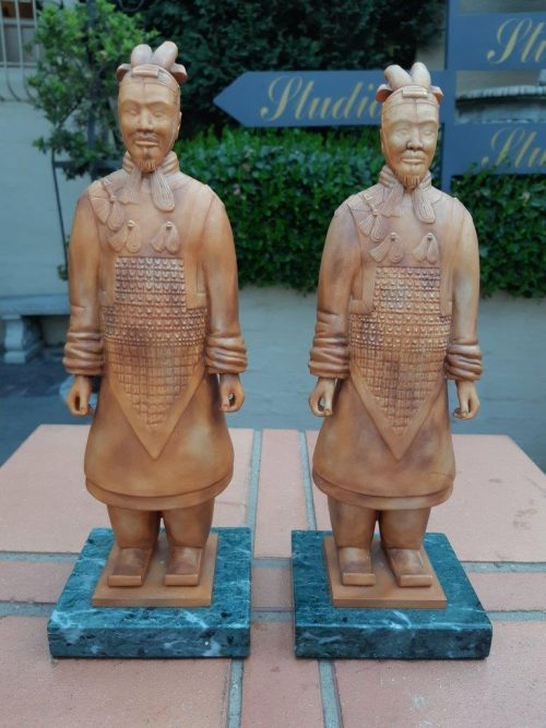 A Pair of Ashmoor porcelain figurines of Chinese Warriors