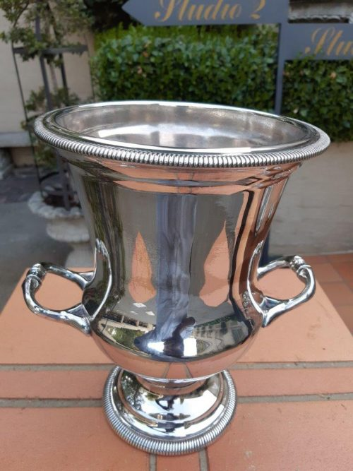 A Silver-Plated Decorative Wine Cooler/Ice Bucket