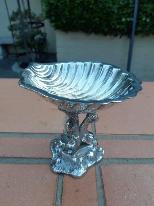 An Ornate And Highly Decorative Fish And Shell Shaped Soap Dish
