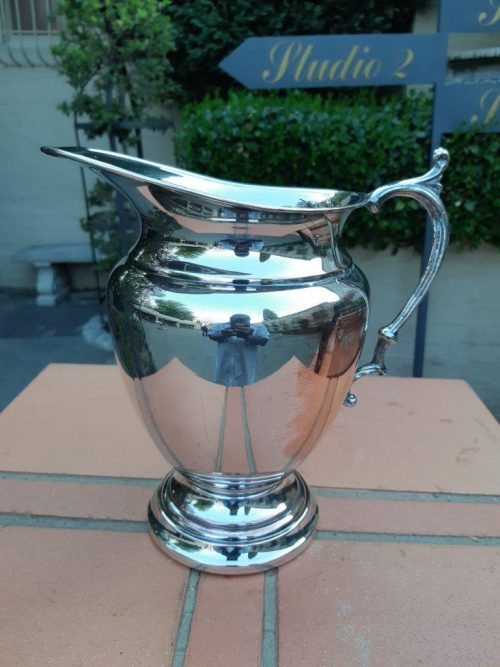 A Silver-Plated Water Pitcher