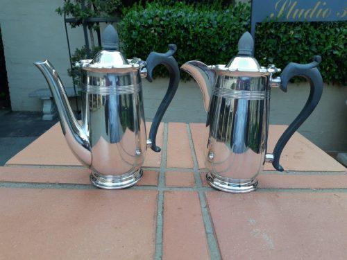 An Epns Set Including Coffee And Tea Pot