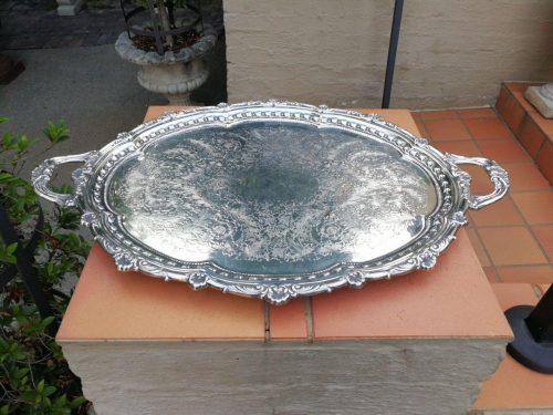 Silverplate Twin Handle Tray