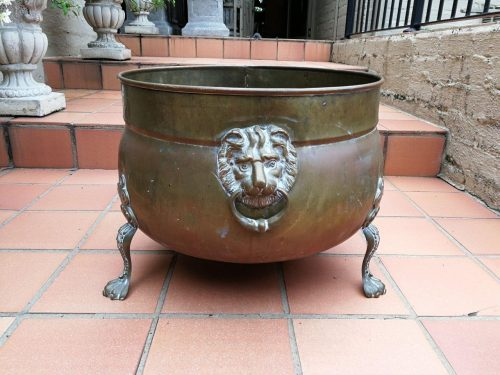 An Extremely Large Brass Pot