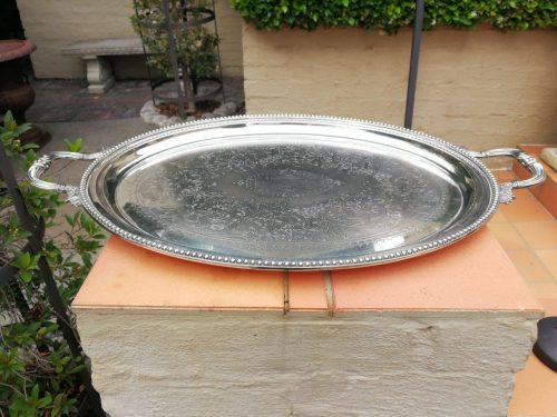 Antique Silver Plate Tray Circa 1897