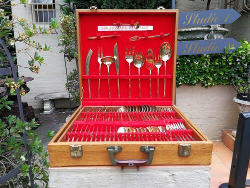 Complete 12- Place Gilt Plated 12-Place Cutlery Set