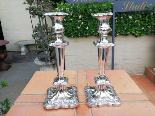 A Pair Of Early 20th Century Candlesticks