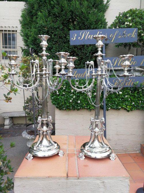 A Pair Of Continental Ornate Candelabras Circa 1900